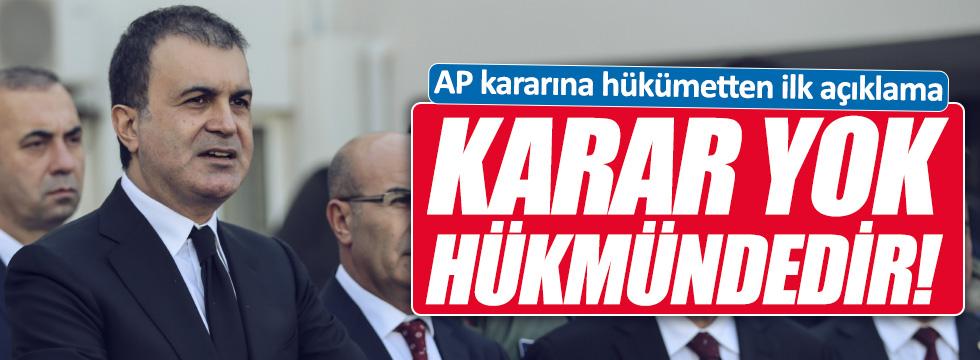 """AP'nin kararına Türkiye'den tepki """"Yok hükmünde sayıyoruz"""""""
