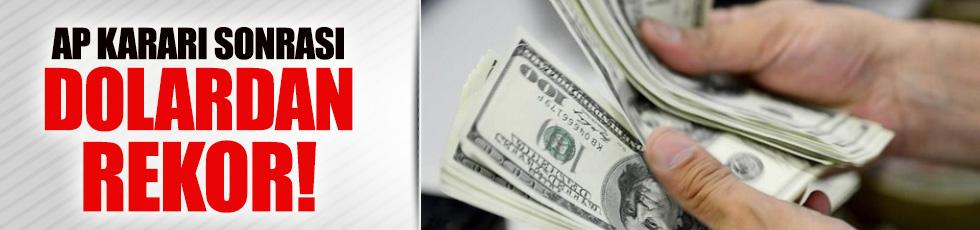 AP kararı sonrası dolar yine rekor kırdı