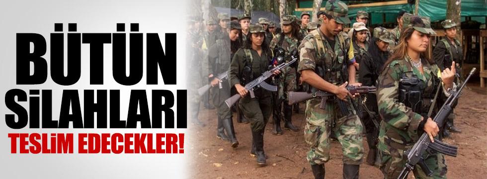 FARC 150 gün içinde tüm silahlarını teslim edecek