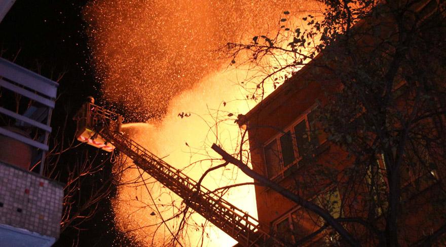 Kadıköy'de korkutan yangın!