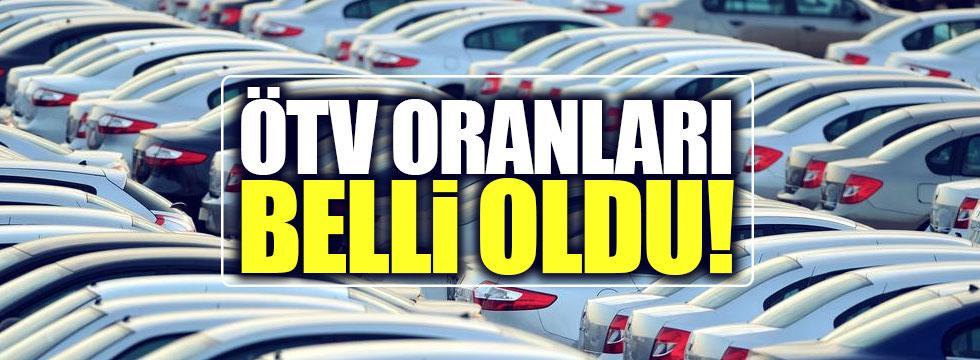 Otomobil ÖTV oranlarında değişikliğe gidildi