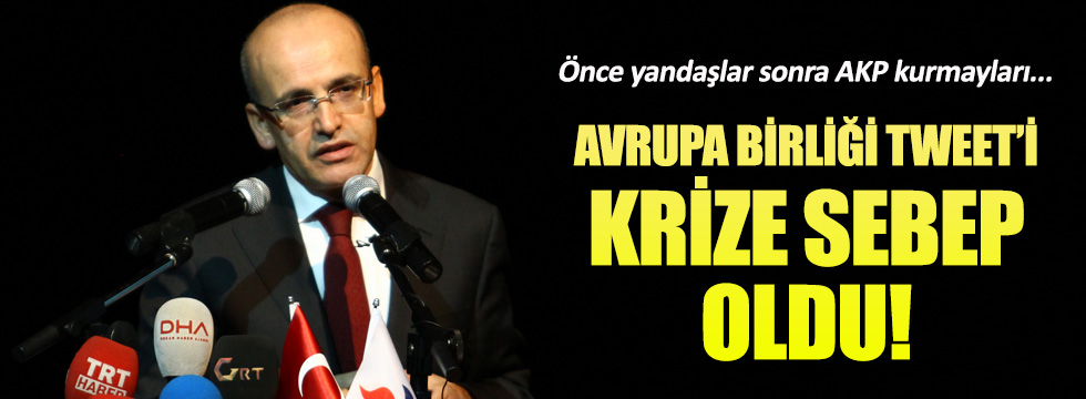 Mehmet Şimşek'in Avrupa Birliği tweet'i krize sebep oldu