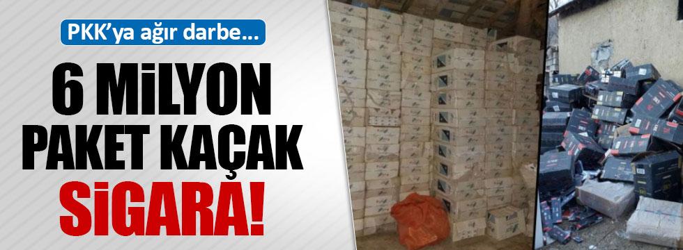 6 milyon paket kaçak sigara ele geçirildi