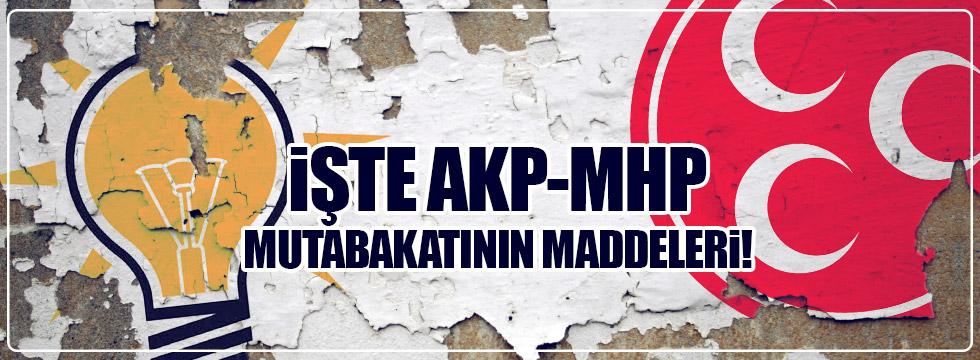 AKP - MHP mutabakat maddeleri