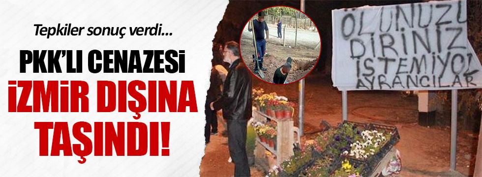 PKK'lı teröristin cenazesi İzmir dışına taşındı
