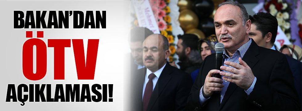 """Bakan Özlü: """"ÖTV Türkiye'yi etkilemeyecek"""""""