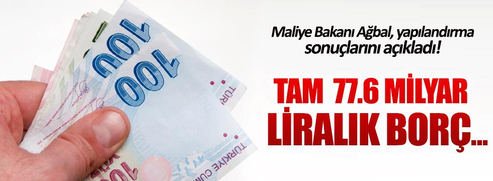 Naci Ağbal: 77.6 milyar TL borç yapılandırıldı