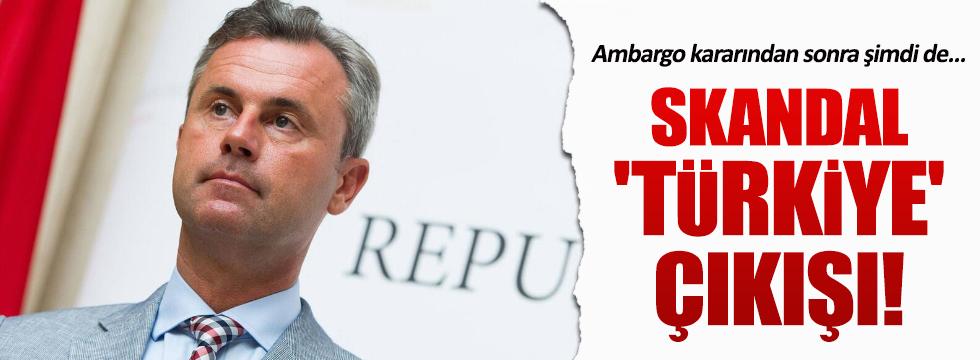 Avusturya cumhurbaşkanı adayından skandal 'Türkiye' çıkışı