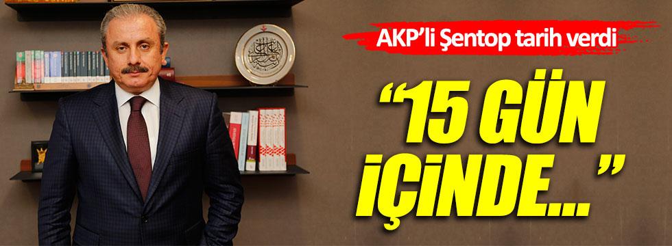 """AKP'li Şentop: """"15 gün içinde yeni Anayasa teklifini Meclis'e vereceğiz"""""""
