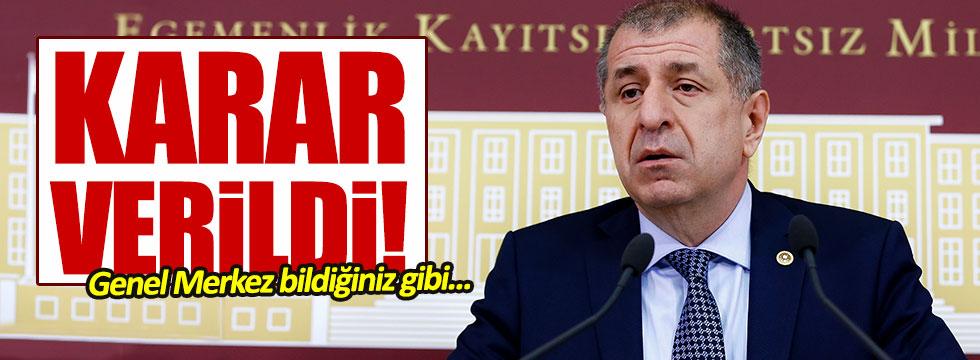 Ümit Özdağ'ın ihracına yönelik itirazı reddedildi