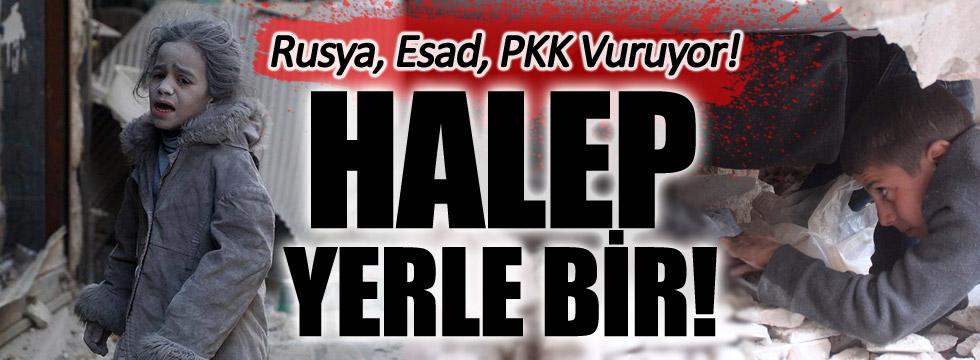 Rusya-Esad ve PKK Halep'i Vuruyor