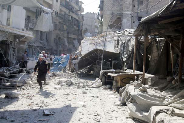 Halep'te Türkmen mahalleleri tamamen yıkıldı!