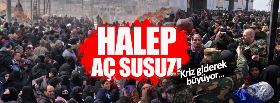 """Halep """"yiyeceksiz kent'e dönüştü!"""