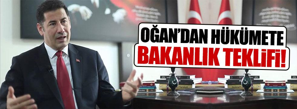 Sinan Oğan'dan hükümete yeni bakanlık teklifi