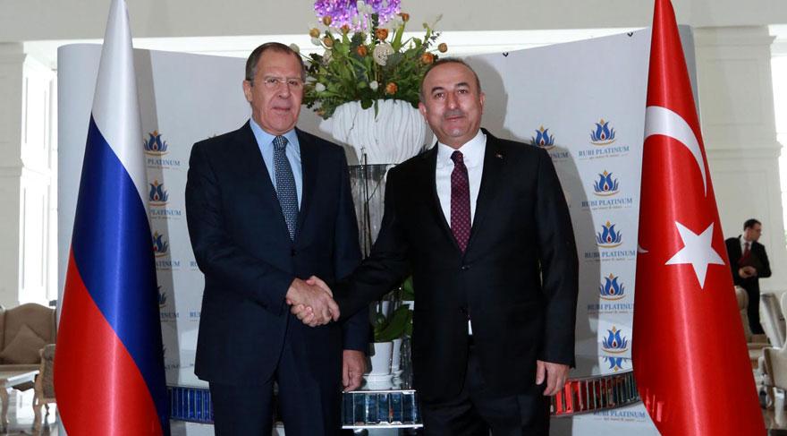 Çavuşoğlu ile Lavrov Alanya'da buluştu