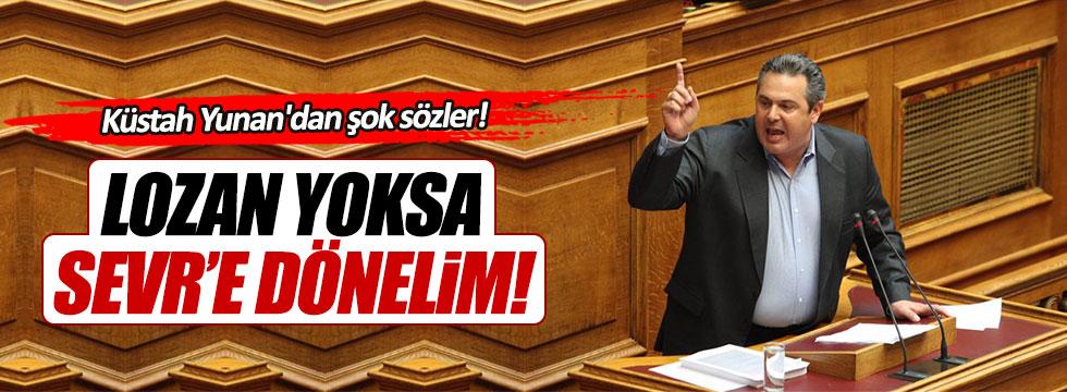 """Yunan Savunma Bakanı: """"Erdoğan Lozan'ı fesh etmek istiyorsa Sevr'e dönelim!"""""""