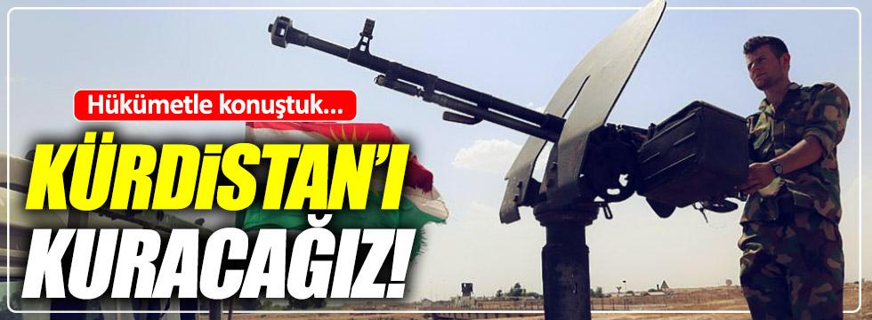 """Barzani: """"Kürdistan'ı kuruyoruz"""""""