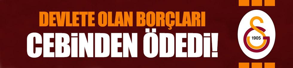Özbek, Galatasaray'ın devlete olan borçlarını cebinden ödedi