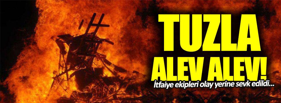 Tuzla'da korkunç yangın