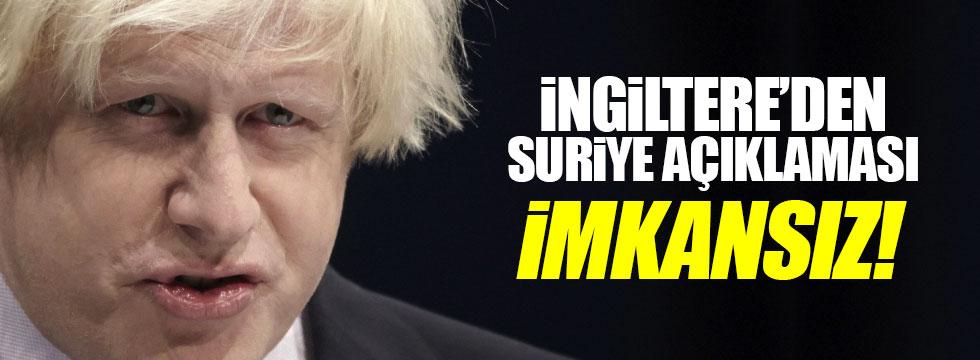 Boris Johnson'dan Suriye açıklaması