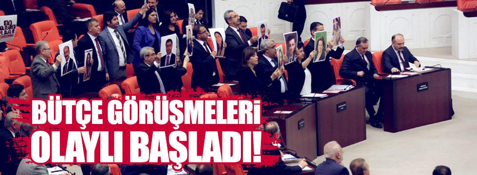 Bütçe görüşmelerinde HDP protestosu