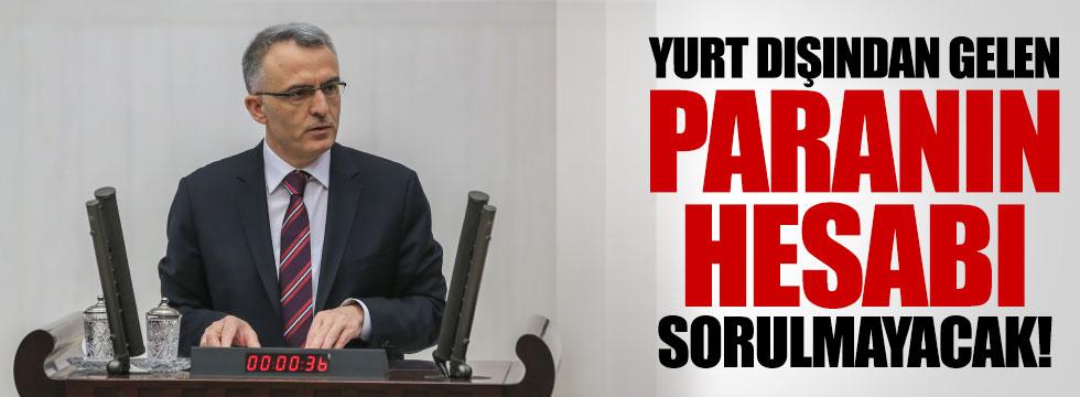 """Ağbal: """"Parasını Türkiye'ye getirene soru sormak yok"""""""