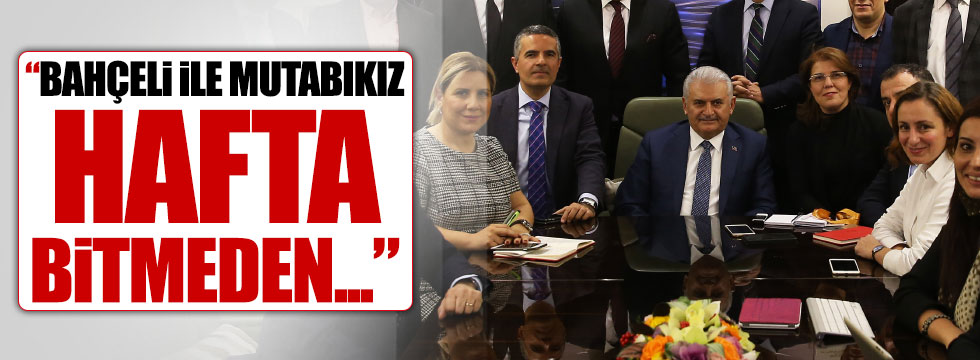 """Başbakan Yıldırım: """"Bahçeli ile mutabıkız"""""""