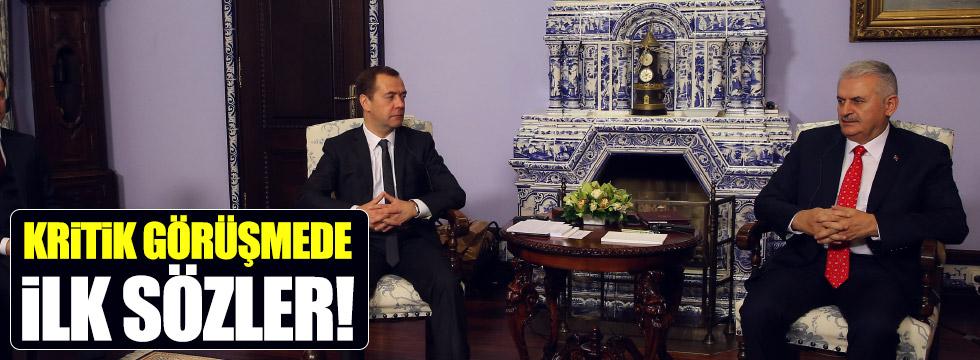 Yıldırım, Medvedev ile görüştü