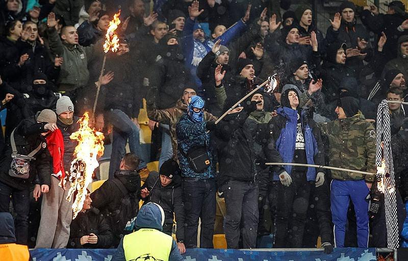 Kiev'de Türk bayrağı yaktılar