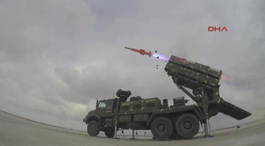 İlk yerli savunma füzesinin test atışı yapıldı