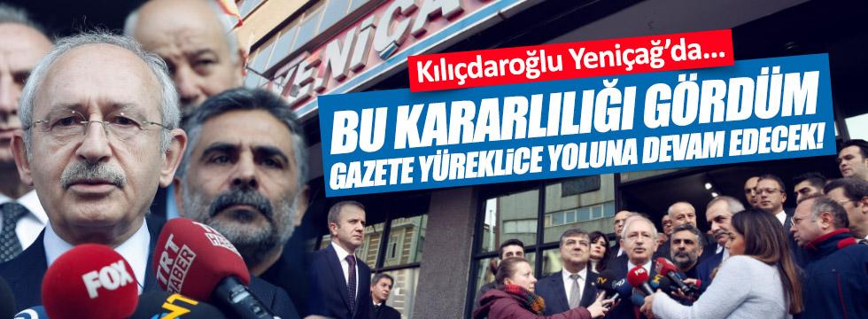 Kılıçdaroğlu, Yeniçağ Gazetesi'ni ziyaret etti