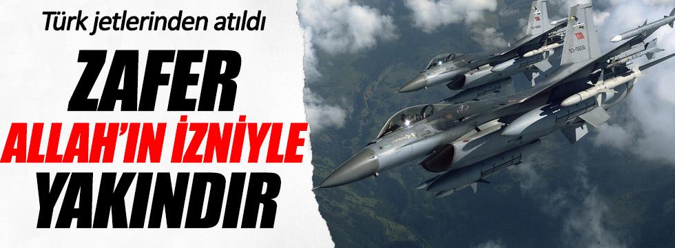 Türk jetlerinden arapça bildiri!