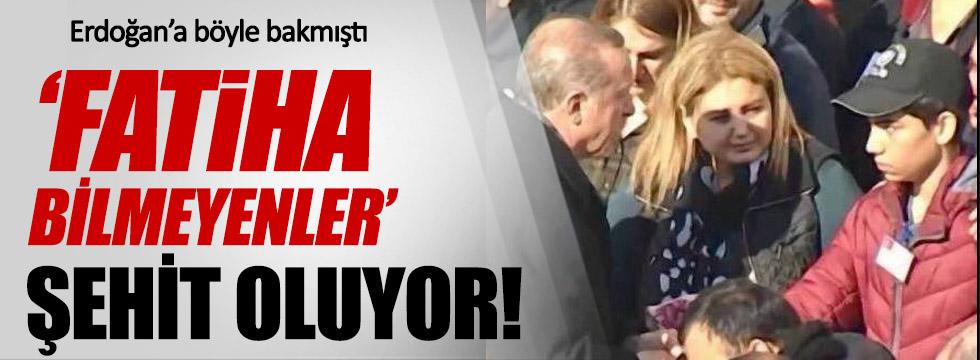 Ülkücü şehidin oğlu Erdoğan'a böyle baktı