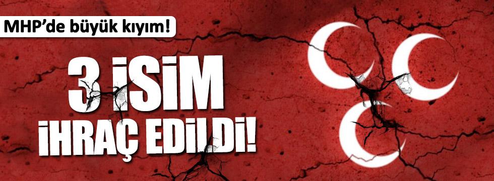 MHP'de Bahçeli'yi istemeyen 3 isim partiden ihraç edildi