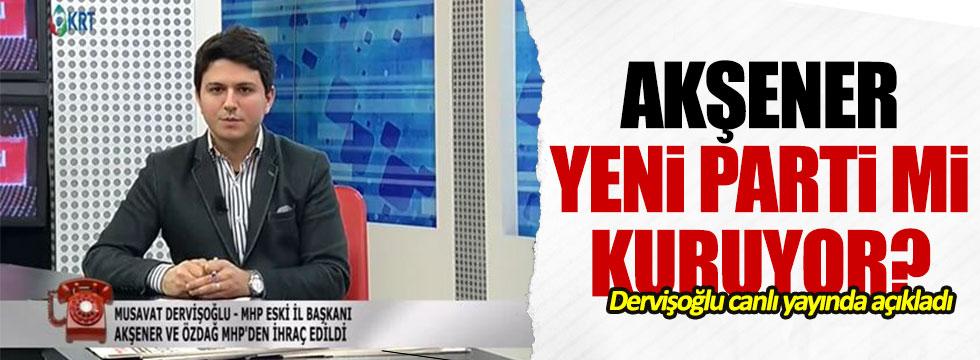 Müsavat Dervişoğlu'ndan 'yeni parti' açıklaması