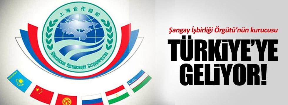 Şangay İşbirliği Örgütü'nün kurucusu Türkiye'ye geliyor