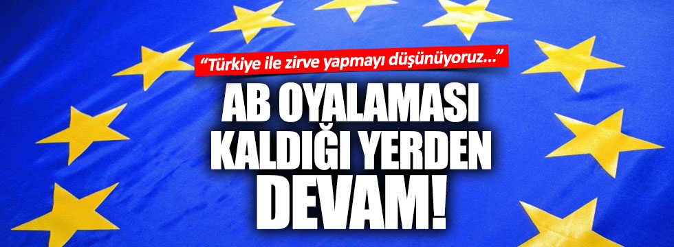 AB'den Türkiye ile zirve açıklaması