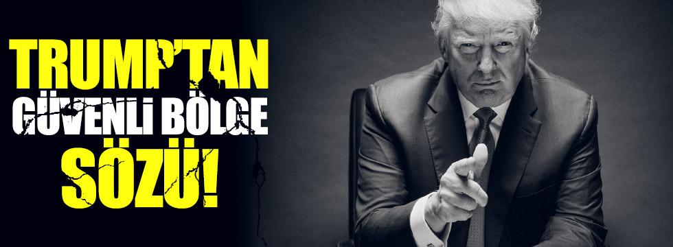 Trump'tan, Suriye'de güvenli bölge sözü