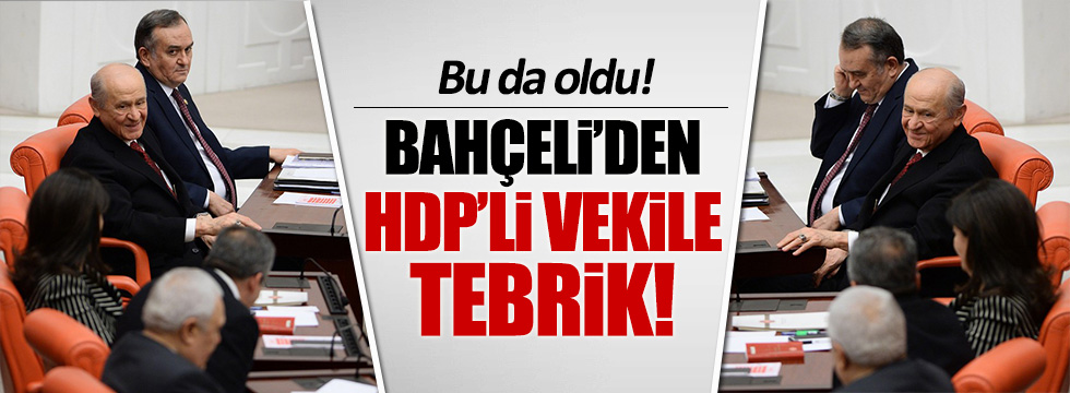 Devlet Bahçeli'den HDP'lilerle samimi pozlar