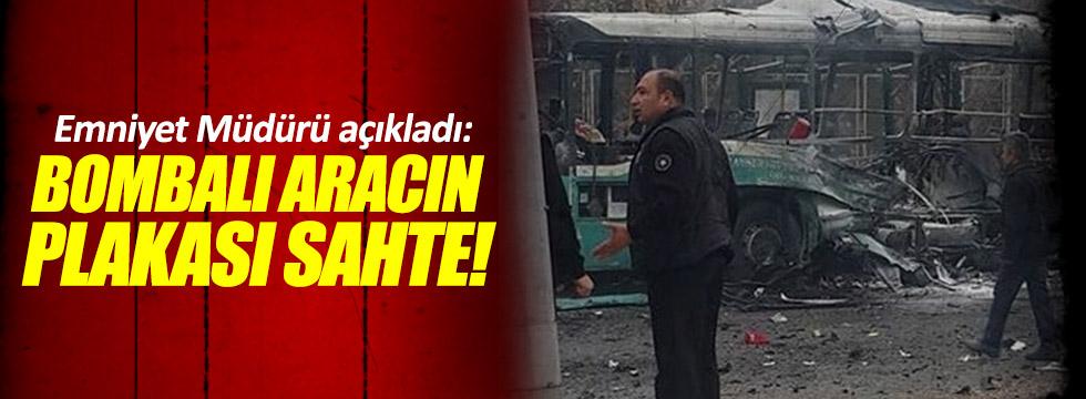 Kayseri'deki bomba yüklü aracın plakası sahte