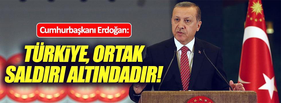 Erdoğan: Türkiye, ortak saldırı altındadır