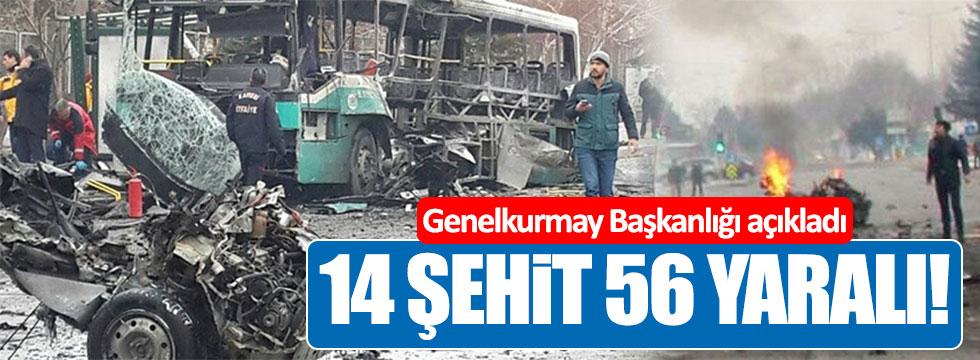 Kayseri'de 14 şehit, 55 yaralı