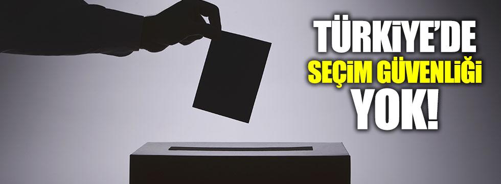 Türkiye'de seçim güvenliği yok!