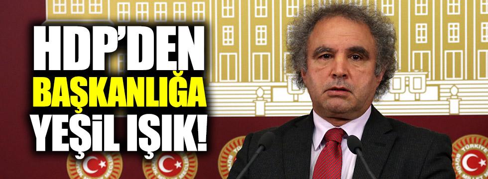 HDP'den başkanlık çıkışı
