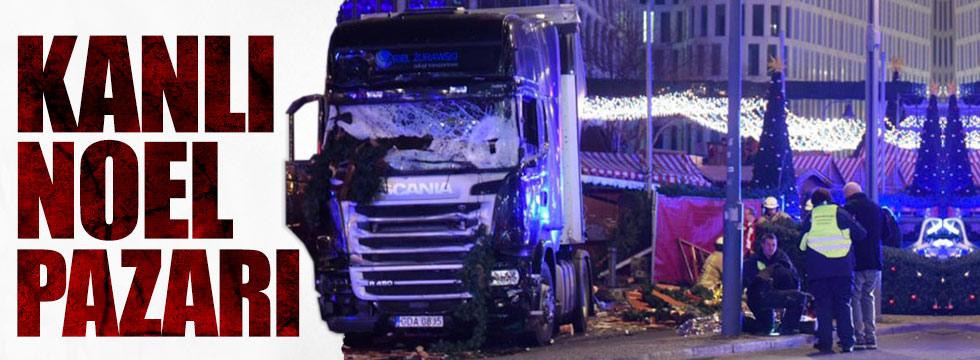 Berlin'de Noel pazarına kamyon daldı