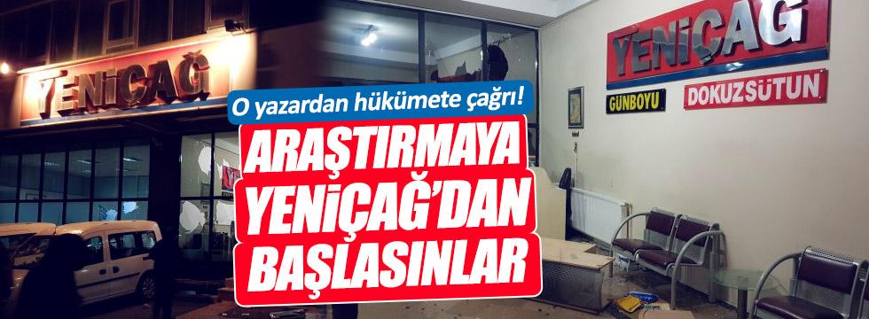 """Can Ataklı: """"Araştırmaya Yeniçağ Gazetesi'ne yapılan saldırıdan başlasınlar"""""""