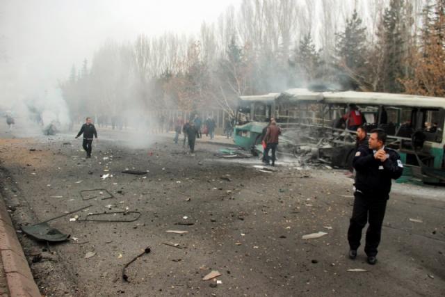 Kayseri patlamasında 4 askere gözaltı