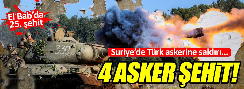 Fırat Kalkanı'nda Türk askerine saldırı