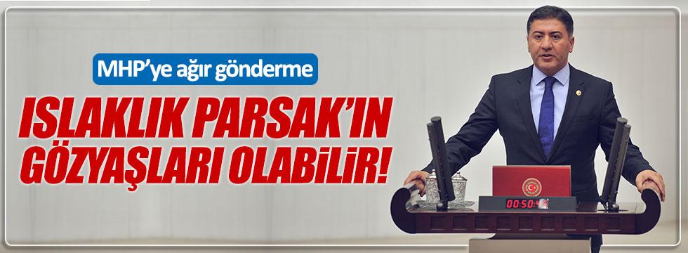 """CHP'li Emir: """"Islaklık MHP'li Parsak'ın gözyaşları olabilir"""""""