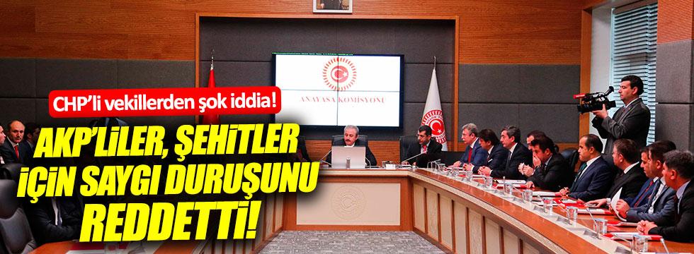 El Bab şehitleri için saygı duruşu, AKP'liler tarafından reddedildi